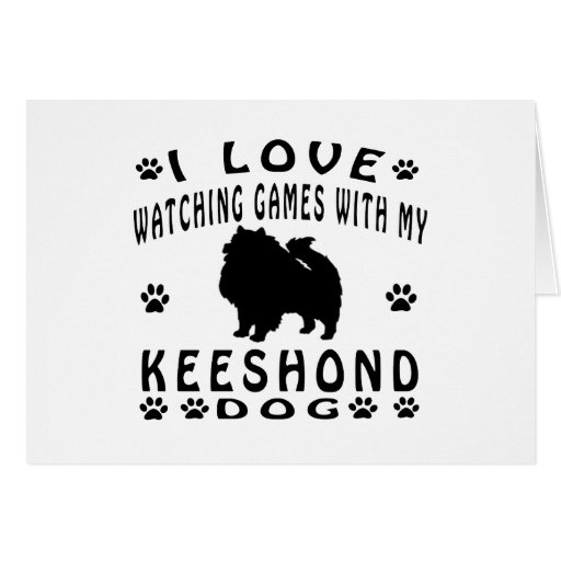 Keeshond designs greeting cards