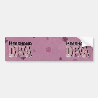 Keeshond DIVA Bumper Sticker