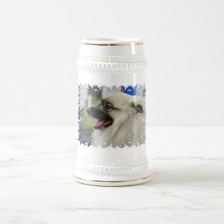 Keeshond Dog  Beer Stein Coffee Mug