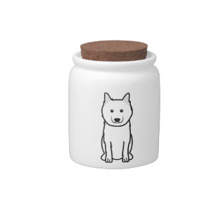 Keeshond Dog Cartoon Candy Dish