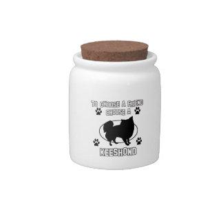 keeshond DOG designs Candy Jars