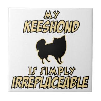 Keeshond DOG designs Tile