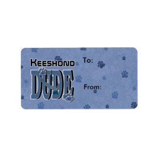 Keeshond DUDE Label