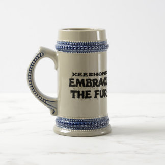 Keeshond Embrace The Fur Beer Stein