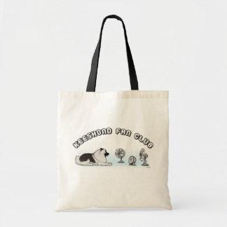 Keeshond Fan Club Tote Bags