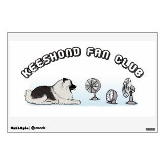 Keeshond Fan Club - Fun Keesie Design Wall Sticker