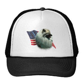 Keeshond Flag Trucker Hat