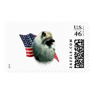 Keeshond Flag Stamps