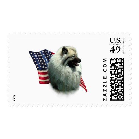 Keeshond Flag Postage