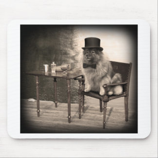 Keeshond Gentleman's Afternoon Mouse Pad