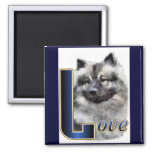 Keeshond Gifts 2 Inch Square Magnet