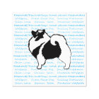 Keeshond Graphics  - Cute Original Dog Art Canvas Print