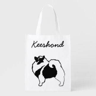 Keeshond Graphics  - Cute Original Dog Art Grocery Bag