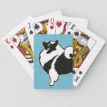 """Keeshond Graphics  - Cute Original Dog Art Playing Cards<br><div class=""""desc"""">Keeshond Graphics dog portrait,  original art.   We specialize in cute and funny original art. Buy this for yourself or as a great gift for your Keeshond loving friends. Be creative - click on CUSTOMIZE to add/remove/change text,  resize the picture,  change colors or anything else the customization tool will allow!</div>"""