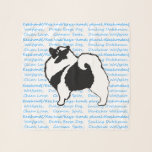 """Keeshond Graphics  - Cute Original Dog Art Scarf<br><div class=""""desc"""">Keeshond Graphics dog portrait,  original art.   We specialize in cute and funny original art. Buy this for yourself or as a great gift for your Keeshond loving friends. Be creative - click on CUSTOMIZE to add/remove/change text,  resize the picture,  change colors or anything else the customization tool will allow!</div>"""