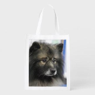 Keeshond Grocery Bag