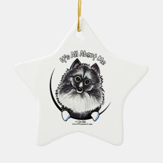 Keeshond IAAM Ceramic Ornament