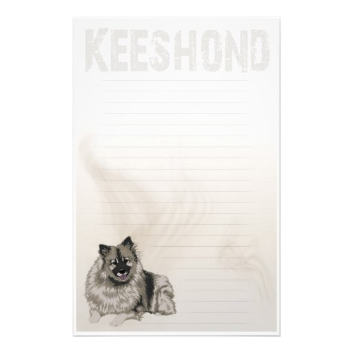 Keeshond inmóvil  papeleria de diseño