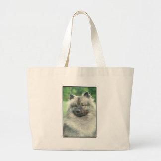 Keeshond Large Tote Bag