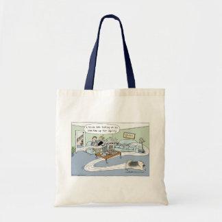 "Keeshond ""Livingroom Agility"" Cartoon Tote Bags"