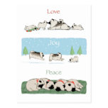 Keeshond Love Joy Peace Postcard