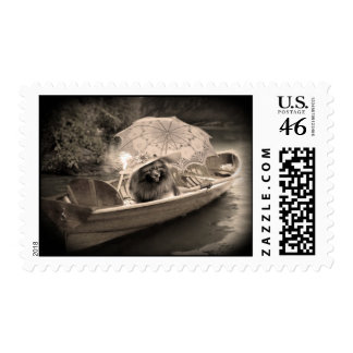 Keeshond Lovely Day Postage