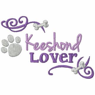 Keeshond Lover Embroidered Hooded Sweatshirt