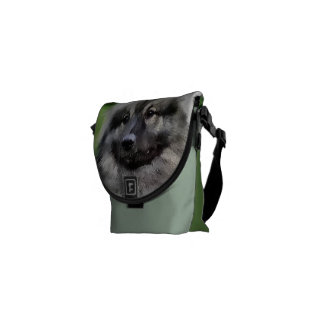 Keeshond Lovers Art Gifts Courier Bag