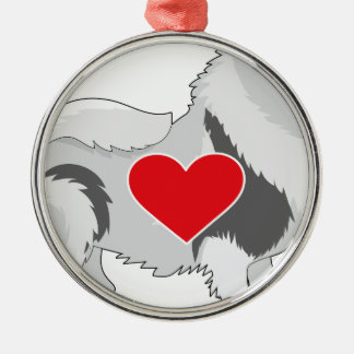 Keeshond Metal Ornament