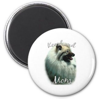 Keeshond Mom 2 2 Inch Round Magnet