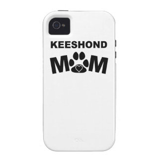 Keeshond Mom Vibe iPhone 4 Covers