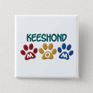 KEESHOND Mom Paw Print 1 Pinback Button