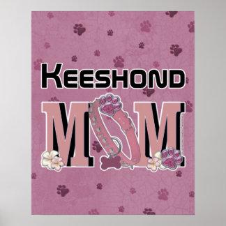 Keeshond MOM Print