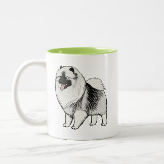 Keeshond Two-Tone Mug