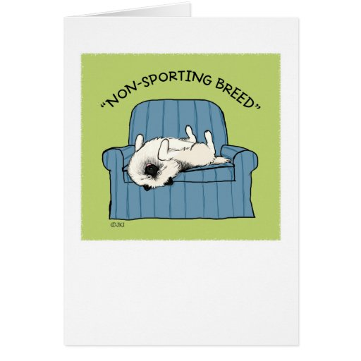 "Keeshond ""Non-Sporting Breed"" Stationery Note Card"