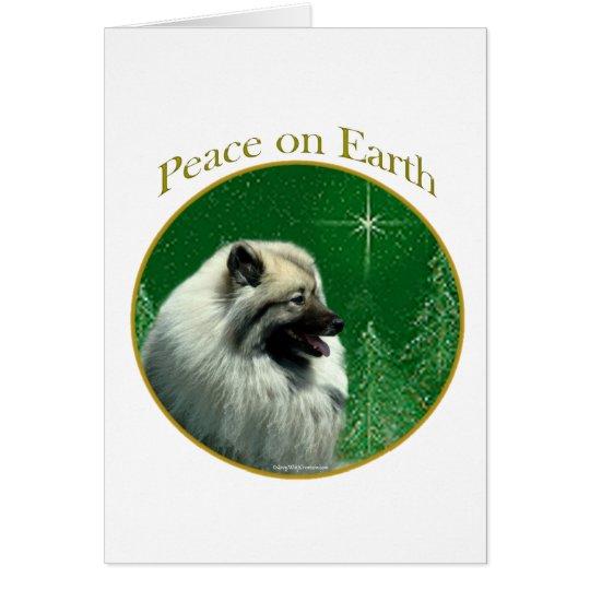 Keeshond Peace Card