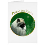 Keeshond Peace Greeting Card