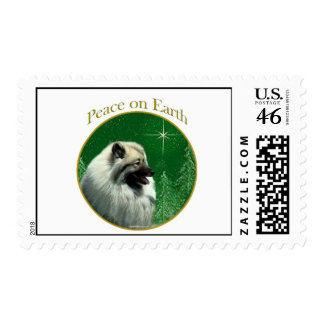 Keeshond Peace Stamps