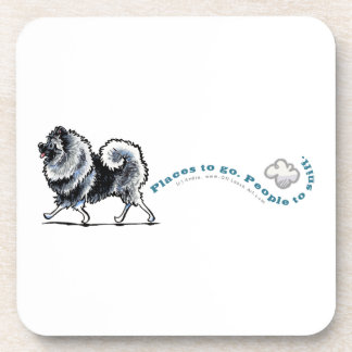 Keeshond Places to Go Beverage Coaster