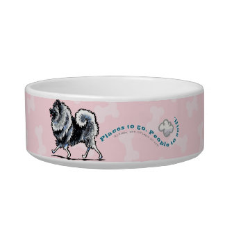 Keeshond Places to Go Pet Bowl