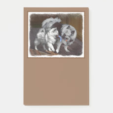 Keeshond Playtime Post-it Notes