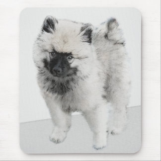 Keeshond Puppy (Drawing) Mouse Pad
