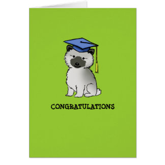 Keeshond Puppy Graduation Stationery Note Card