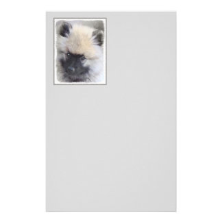 Keeshond Puppy (Painted) Stationery