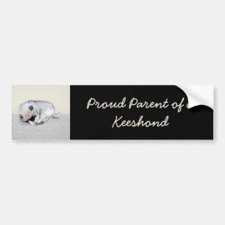 Keeshond Puppy (Sleeping) Bumper Sticker