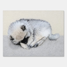 Keeshond Puppy (Sleeping) Lawn Sign