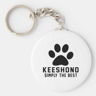 Keeshond simplemente el mejor llavero redondo tipo pin