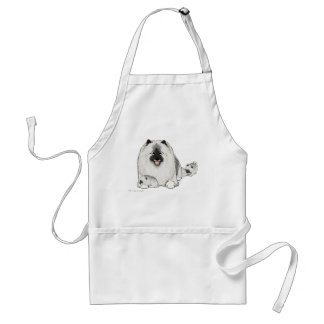 Keeshond with Puppies Apron