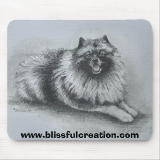 keeshond  www.blissfulcreation.com mouse pad