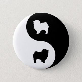 Keeshond Yin Yang Pinback Button